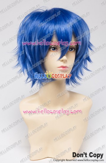Wig 30CM Cosplay Pure Blue Universal Short Layered