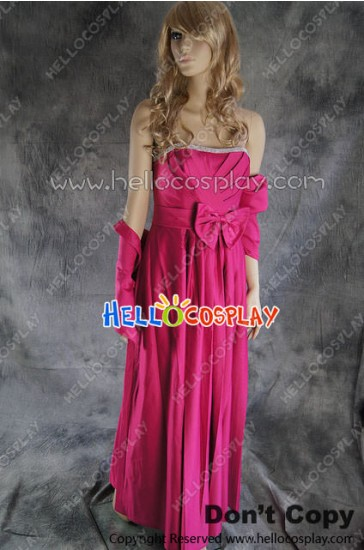 Party Cosplay Pink Ball Gown Formal Dress Costume