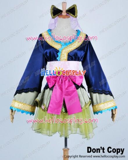 Vocaloid 2 Cosplay Oiran Miku Kimono Short Dress Costume
