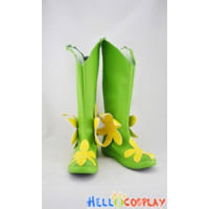 Digimon Cosplay Shoes Lilimon Boots Green