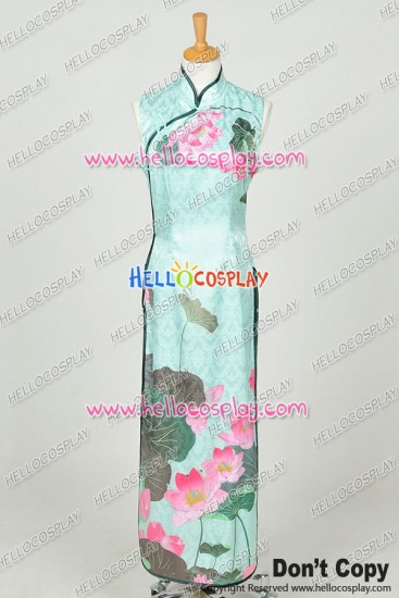 Vocaloid Cosplay Perfume HurlyBurly Gumi Green Cheongsam Dress Costume