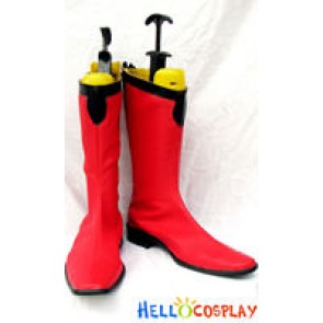 Gundam Seed Cosplay Red Long Boots