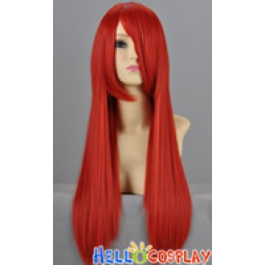 Red Straight Cosplay Wig 70cm