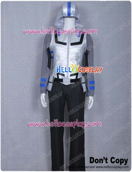 Smallville Victor Stone Cosplay Cyborg Gray Uniform Costume