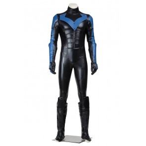 Batman Arkham City Nightwing Jumpsuit Cosplay Costume