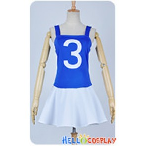 One Piece Cosplay Nami Plain White Blue Dress Costume