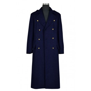 Doctor Torchwood Captain Jack Harkness Cosplay Costume Dark Blue Trench Coat