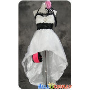 Vocaloid 2 Cosplay Megurine Luka White Dress Costume