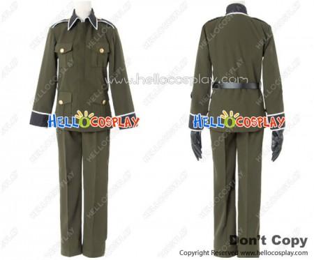 Axis Powers Hetalia APH Cosplay Germany Military Uniform Costume