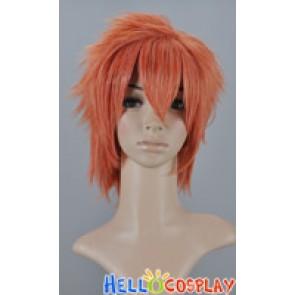 Orange Pink Short Layered Cosplay Wig