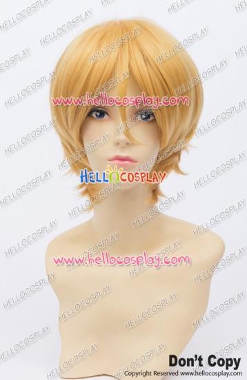 Wig 30CM Cosplay Golden Yellow Ordinary Universal Short Layered