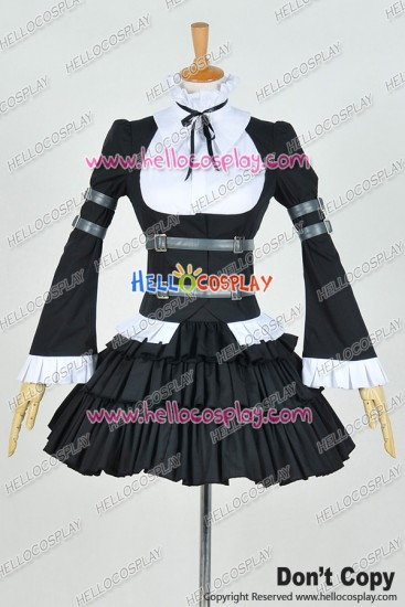 Fairy Tail Cosplay Erza Scarlet Costume Lolita Maid Dress
