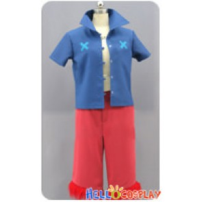 One Piece Strong World Cosplay Monkey D Luffy Costume