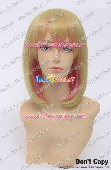 No Game No Life Cosplay Tet Wig The God Of Disboard Short Golden Pink Gradual Change