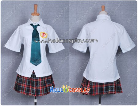 Panty & Stocking With Garterbelt Cosplay Costume Anarchy Panty School Uniform