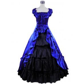 Renaissance Gothic Reenactment Dress Ball Gown Blue Dress