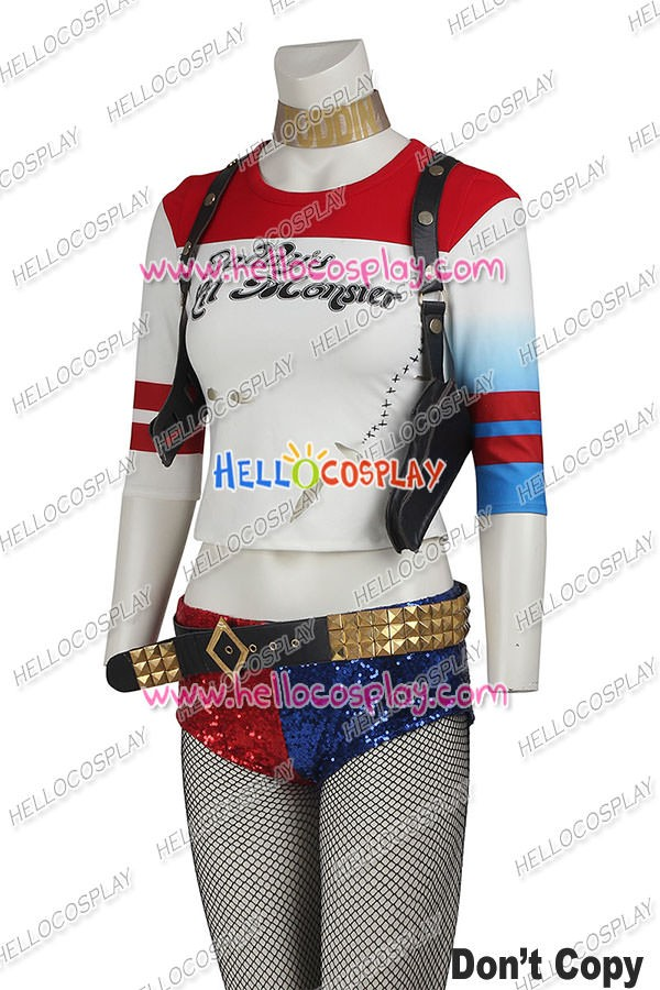 Suicide Squad Batman Harley Quinn Dr Harleen Frances Quinzel Cosplay Outfit New