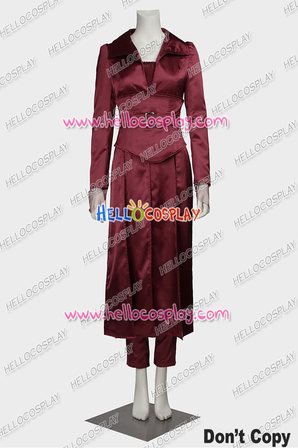 X Men Jean Grey Cosplay Costume Dark Red Comfortable Satin Dress High Quality