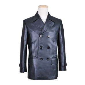 The 9th Doctor Costume Black Leather Jacket