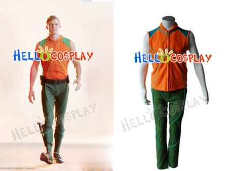 Smallville Aquaman Cosplay Orange Vest Uniform Costume