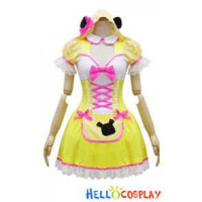 Angel Feather Cosplay Yellow Winnie Maid Dress Costume