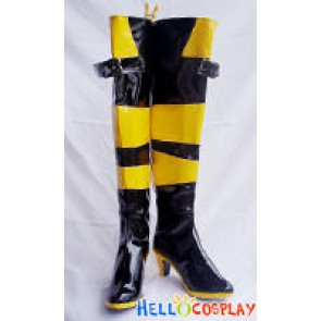 Vocaloid 2 Cosplay Lily Boots Black Yellow