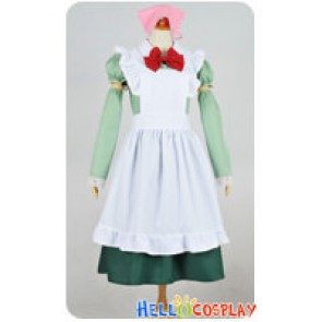 Axis Powers Hetalia APH Cosplay Hungary Maid Dress Costume Pink Headpiece