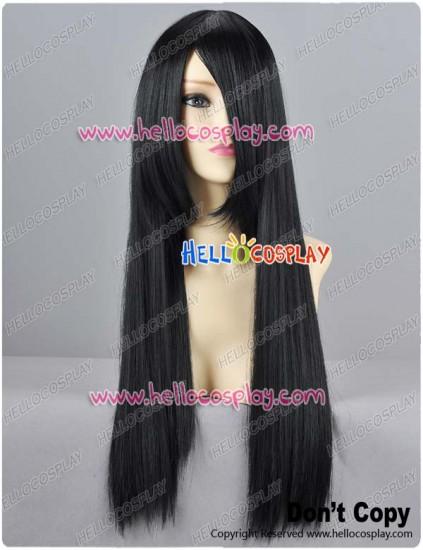 Black Straight Cosplay Wig 70cm