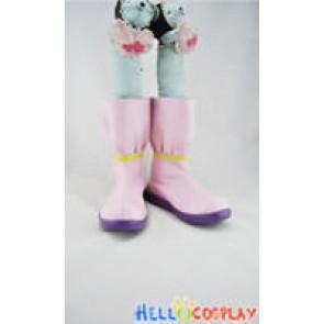Vocaloid 2 Cosplay Shoes Miku Short Boots Pink