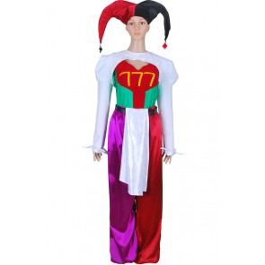 Pierrot Bolneze Female Clown Joker Cosplay Costume From Yakitate Japan