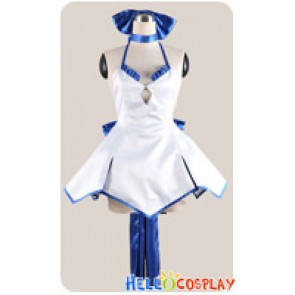 Fate Stay Night Fate Zero Cosplay Saber Blue White Dress Costume