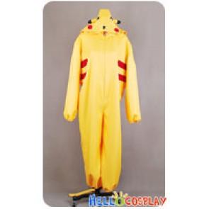 Pokemon Cosplay Pikachu Jumpsuit Costume