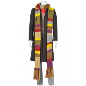 Doctor 4th Fourth Dr Tom Baker Cosplay Costume With Scarf Daily Suit Full Set