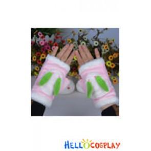 Vocaloid Cosplay 2013 Snow Miku Snowshoe Rabbits Cute Gloves Plush Doll