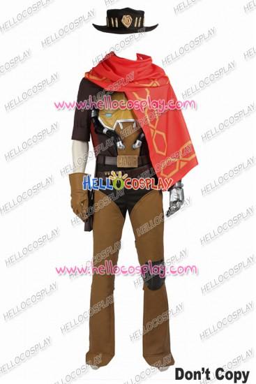 Overwatch McCree Cosplay Costume Uniform