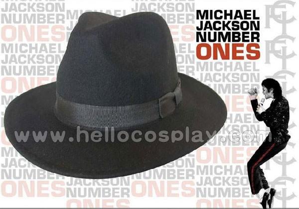 3ea96c2bf0fda Michael Jackson Black Fedora Cashmere Hat