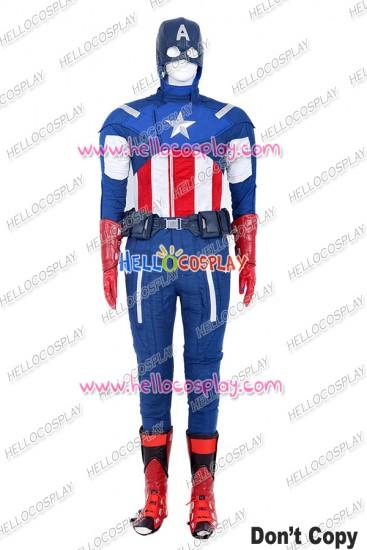 The Avengers Captain America Steve Rogers Cosplay Costume Uniform