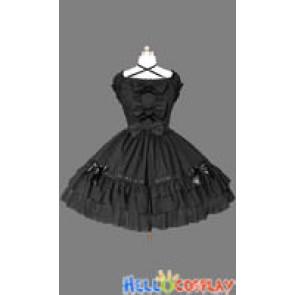 Gothic Lolita Punk Luxurious Black Dress