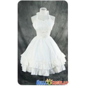 Gothic Lolita Dress Cosplay Costume Cute White