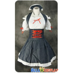 Maid Cosplay Red Ribbon Dress Sweet Costume