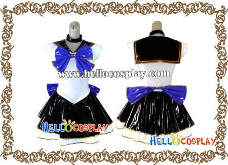 Sailor Moon Cosplay Sailor Mercury Costume Leather Dress