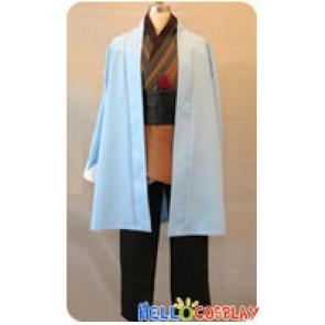 Hakuōki Hakuouki Shinsengumi Kitan Cosplay Souji Okita Blue Cape Costume