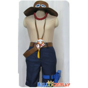 One Piece Cosplay Portgas D Ace Costume Full Set