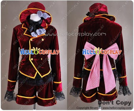 Black Butler Cosplay Ciel Phantomhive Dark Red Costume