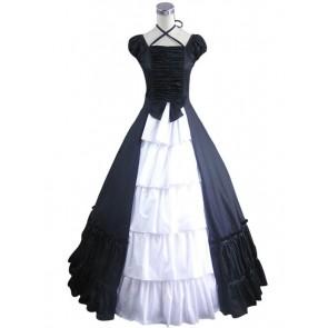 Civil War Gothic Lolita Satin Ball Gown Black Dress
