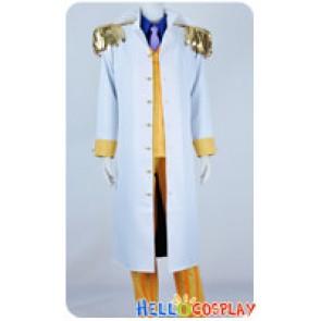 One Piece Cosplay Admiral Sakazuki Kizaru Borsalino Yellow Stripe Suit Costume