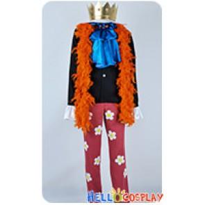 One Piece Cosplay Two Years Later Brook Burukku Costume Orange Scarf