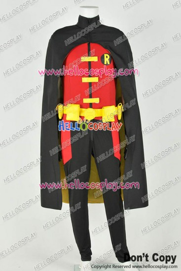Young Justice Cosplay Robin Uniform Costume Stretchable Cotton Version