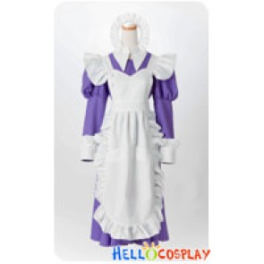 Suzumiya Haruhi Cosplay Mikuru Asahina Purple Maid Dress Costume