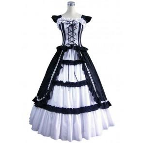 Gothic Lolita Cotton Black Dress Ball Gown